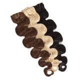 Clip-In Haartressen BIG Set - Echthaar - 60cm - gewellt