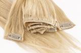 Clip In Haartressen BIG Set - Echthaar - 60cm - glatt
